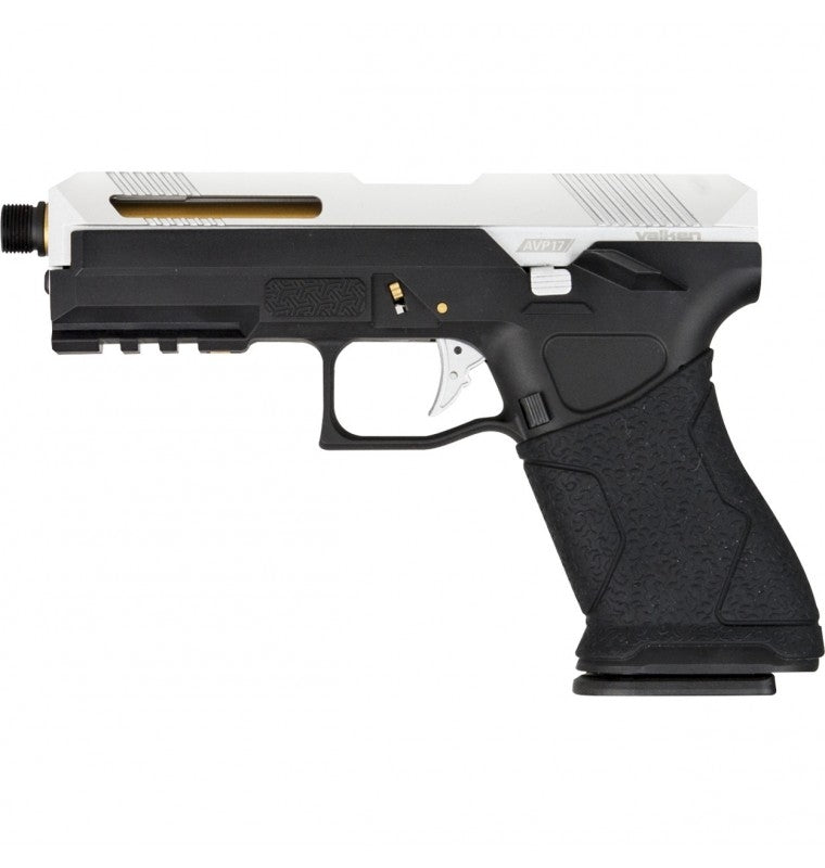 Valken AVP17 Gas Blowback Pistol - Silver