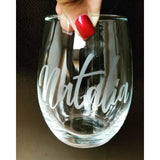 Personalized Wine Glass - Krumble Krafts