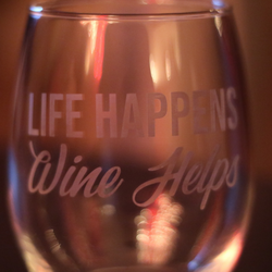 Life Happens Wine Helps - Krumble Krafts