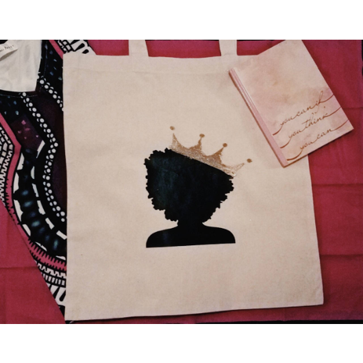 Afro Queen Tote Bag - Krumble Krafts