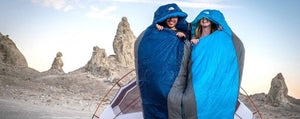HOW TO MATE TWO SLEEPING BAGS TOGETHER