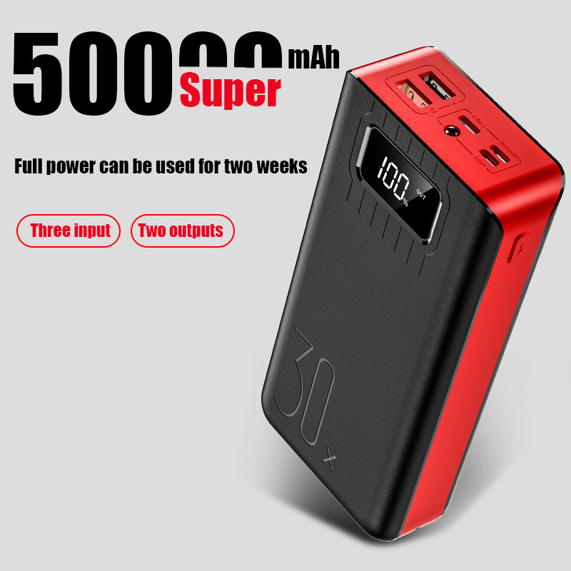 Power bank 50000mAh 2 USB LED External Battery Phone Charger