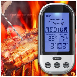 Digital LCD Screen Display Practical Meat Thermometer