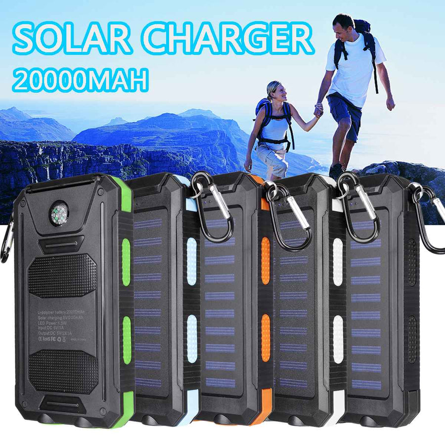 20000mAh Portable Solar Power Bank Charging