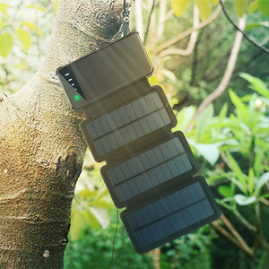 New 10000mAh Folding Solar Panel Charger Portable