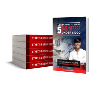 START 5 BUSINESSES FOR UNDER $1000 - E -BOOK VERSION