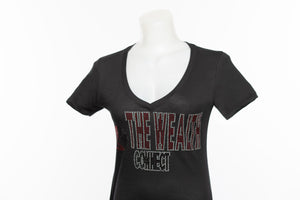 The Wealth Connect - Black Rhinestone T-Shirt