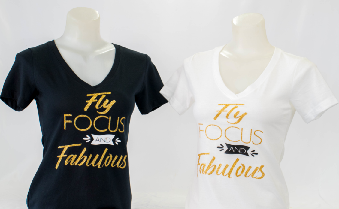 """Fly, Focus and Fabulous"" T-shirt"