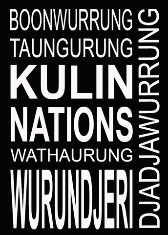Kulin Nation Tea Towel in Charcoal