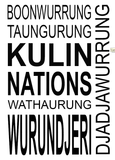 Kulin Nation Tea Towel in Off White