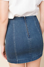 High Waisted Denim Skirt