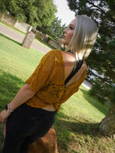 Mustard Lace Crop Top