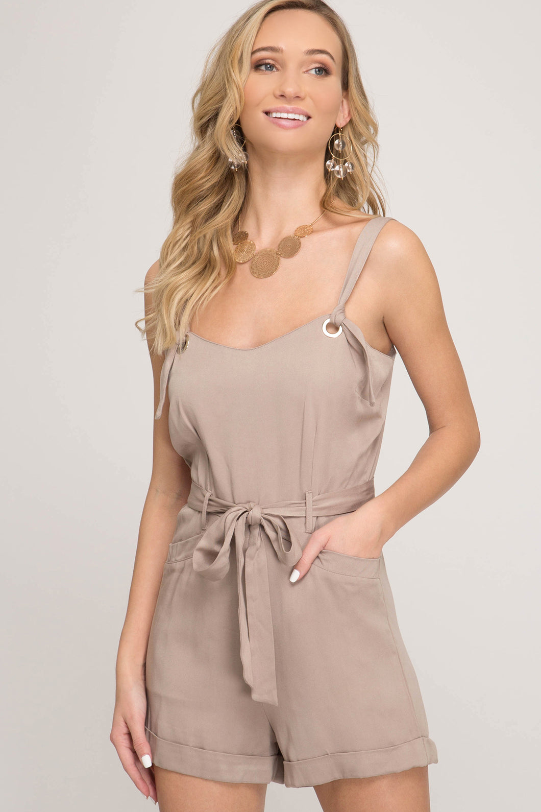 Light Taupe Romper
