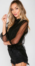 Black Sheer Blouse