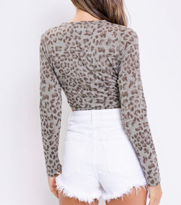 Cropped Leopard Top