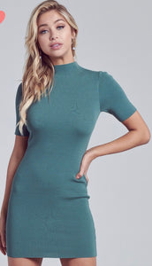 Sage Knit Sweater Dress