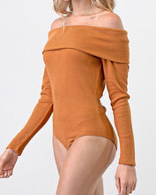 Camel Off The Shoulder Bodysuit