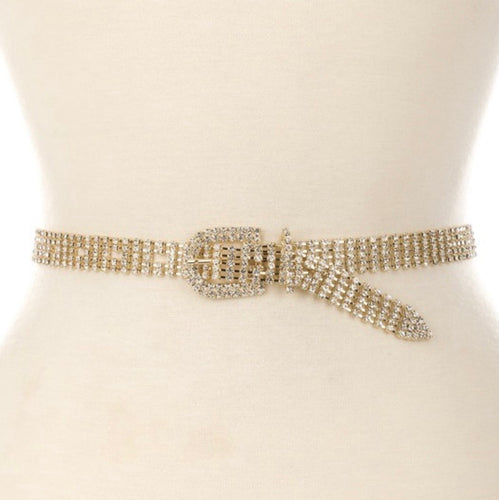 Gold Rhinestone Metal Belt