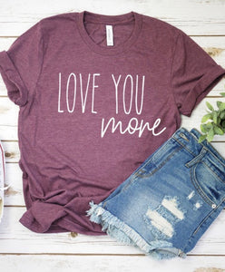 "Heather Plum ""Love You More Tee"""