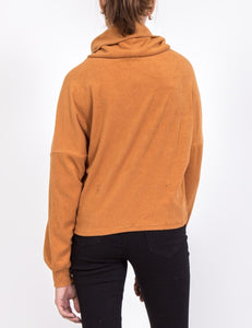 Camel Turtle Neck Top