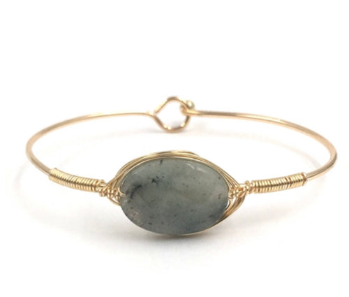 Grey Oval Wire Bracelet