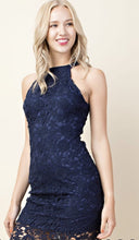 Navy Body Con Lace Dress