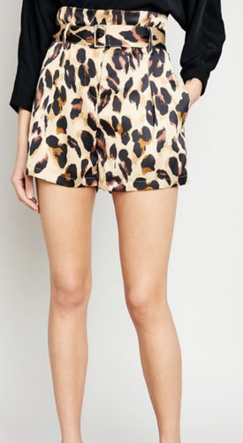 Leopard Print High Waisted Shorts