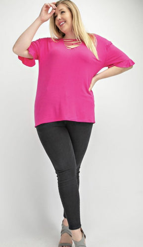 Plus Size Fuchsia Top