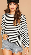 Black & White Striped Knit Top