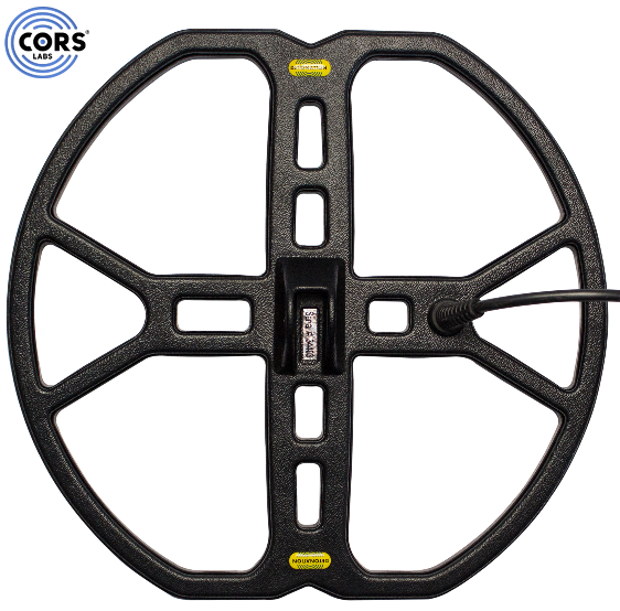 "CORS Detonation 13″x14"" DD Search Coil for Makro Racer Metal Detector w/ Cover"