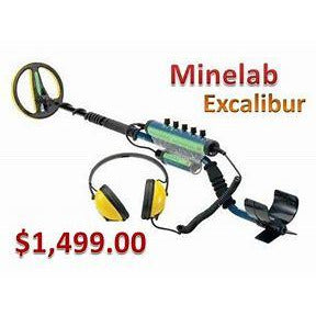 "Minelab Excalibur II Metal Detector with 10"" Search Coil"