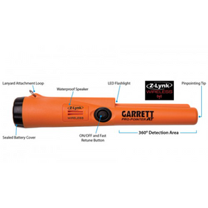 Garrett Pro-Pointer AT Waterproof Pinpointer with Z-Lynk