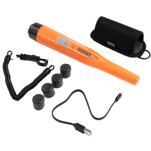 Quest Wader Li Orange Waterproof Pinpointer Metal Detector w/ Li-ion Battery