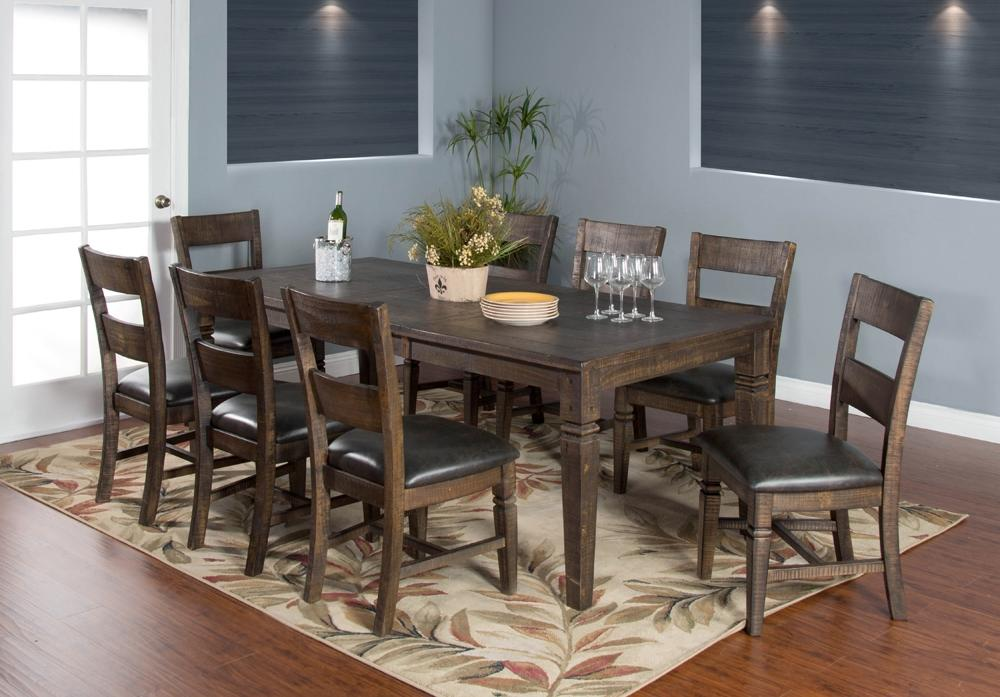 Aap Dining Room Set With Extendable Dining Table And Chairs In Tobacco Allaboutproduct