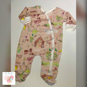 Exclusive Organic Cotton Sleepsuit All in One Baby Grow