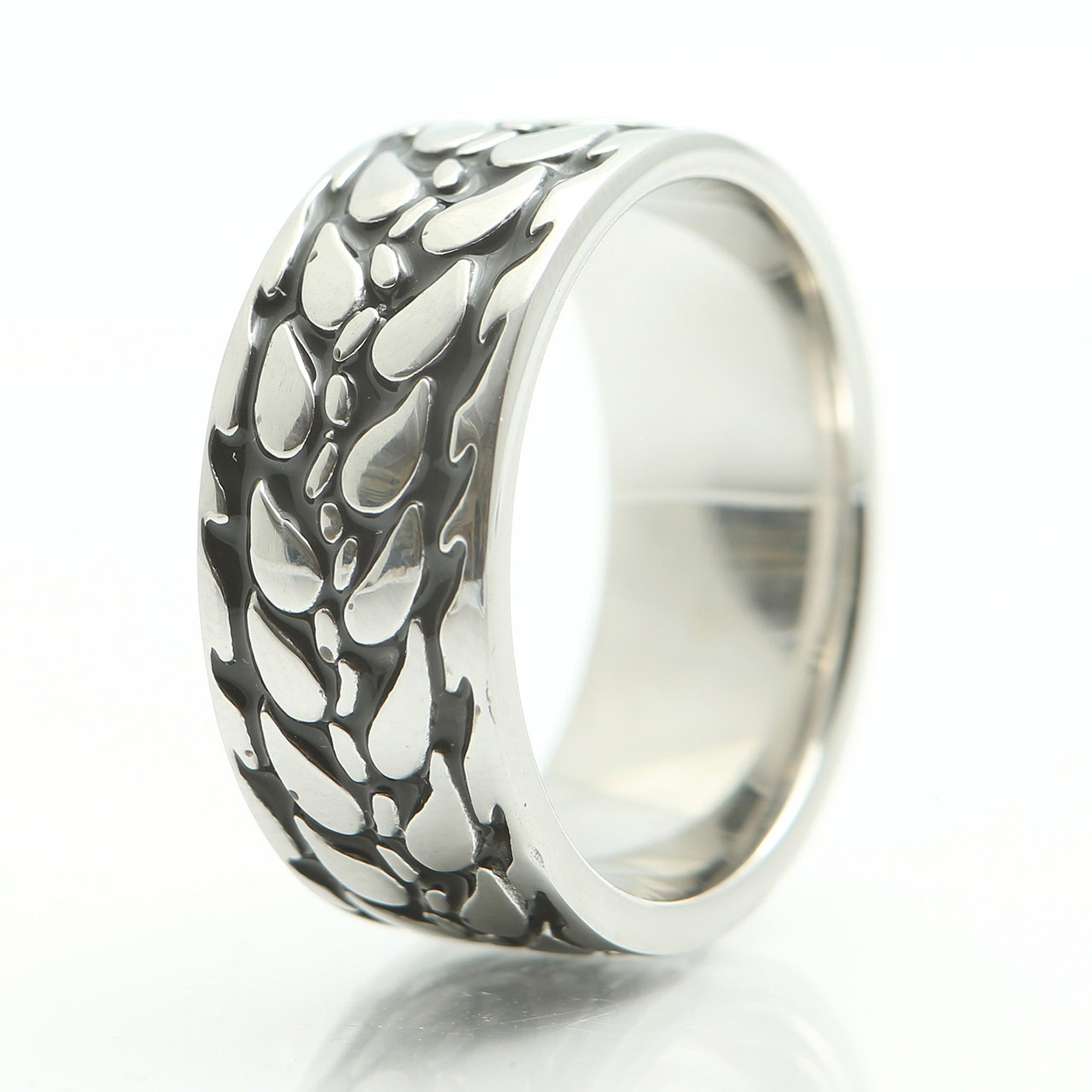 Barley Ring in Wide Stainless Steel