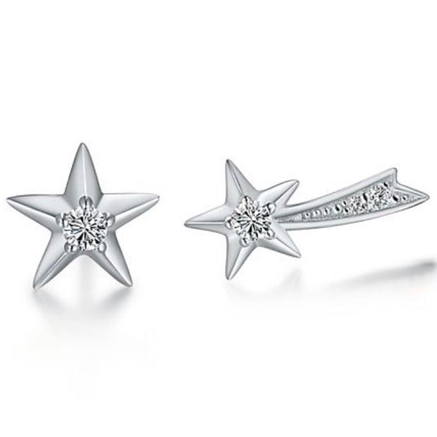 ACCESSORY/Star + Shooting Star Studs/Silver