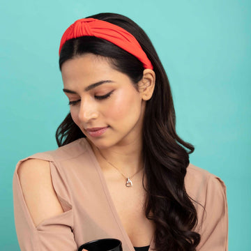 Blair In Coral Jersey Headband