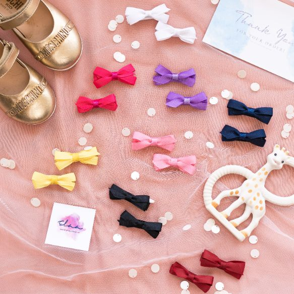 Tiana Boutique Bow - Set of 4 - Light Pink & Hot Pink