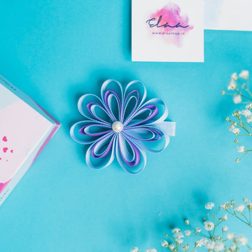 Aria Sunflower Bow - Set of 2 - Blue & Purple and Pink & Turquoise