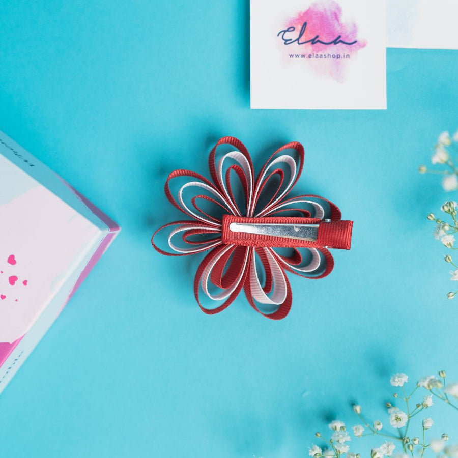 Aria Sunflower Bow - Set of 2 - Pink & Turquoise and Red & White
