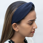 Load image into Gallery viewer, Betty Cooper Headband In Navy Blue Jersey