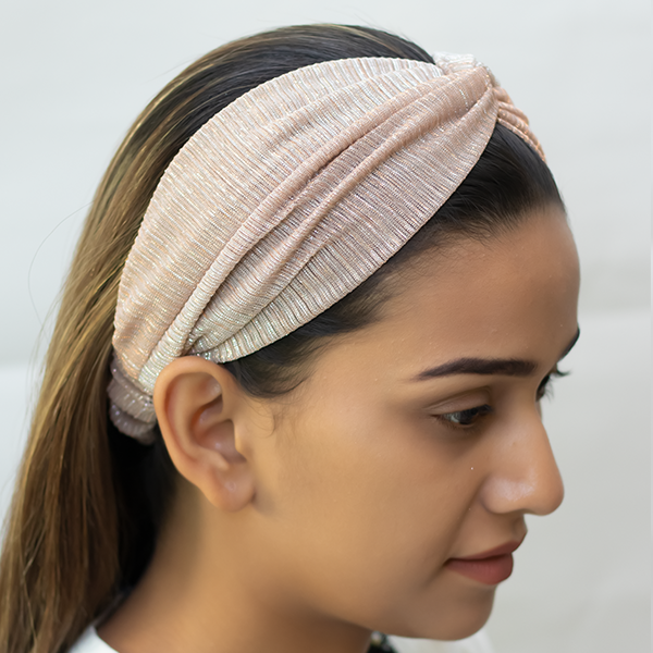 Marvellous Mrs. Maisel Headband In Rose Gold Shimmer