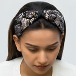 Load image into Gallery viewer, Betty Cooper Headband In Black-Silver Sequins