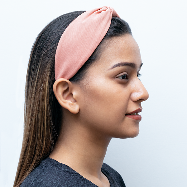Betty Cooper Headband In Old Rose Georgette