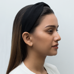 Load image into Gallery viewer, Betty Cooper Headband In Textured Black Jersey