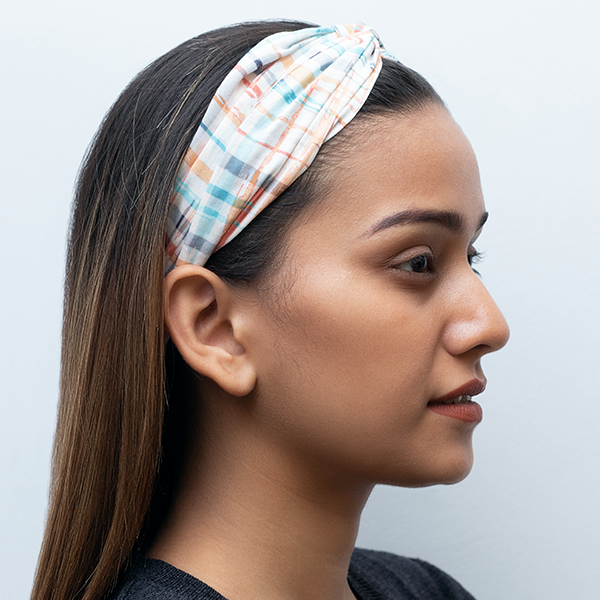 MARVELLOUS MRS. MAISEL HAIRBAND IN CHECKED COTTON