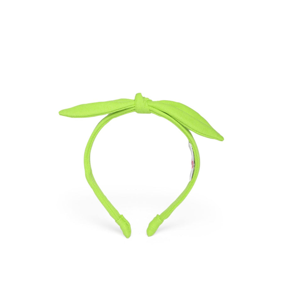 Anna Headband In Lime Green Jersey