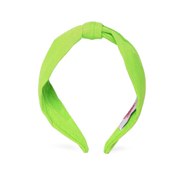 Elsa Headband in Lime Green Jersey