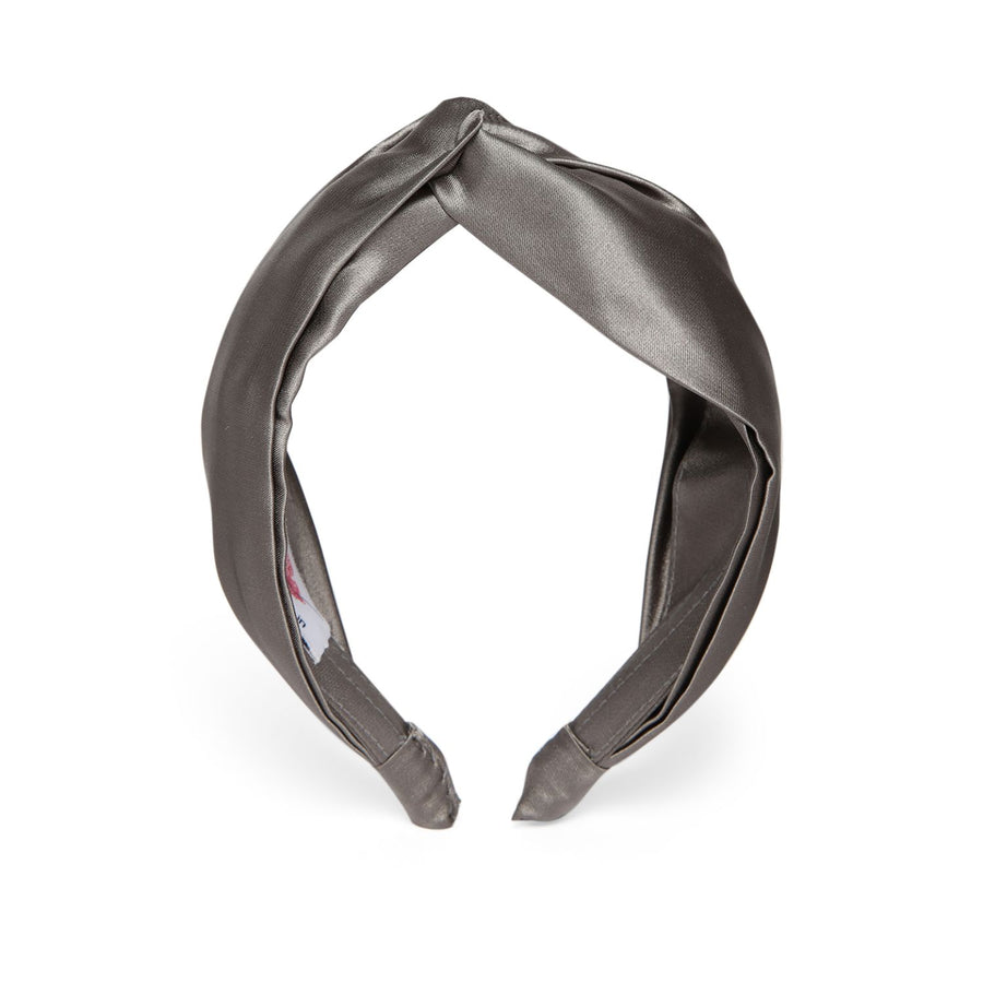 Veronica in Grey Satin Headband